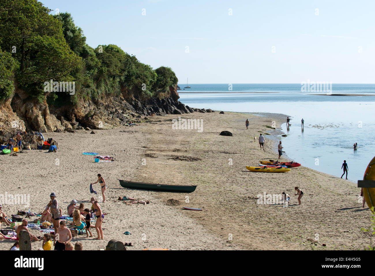 Wonwell Beach on River Erme south Devon England UK - Stock Image