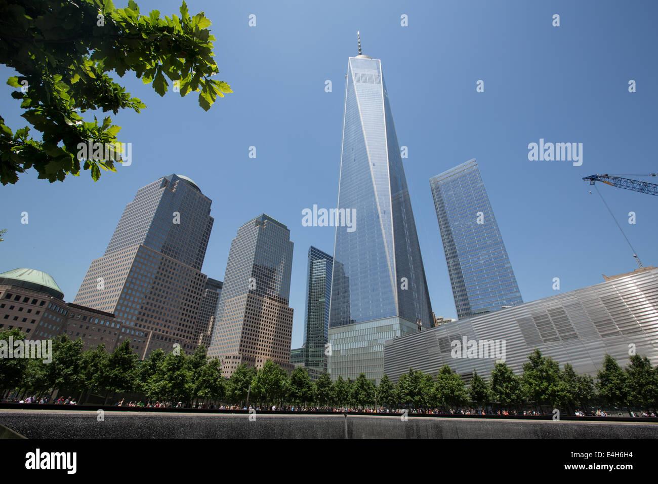 Ground Zero World Trade Centre 9-11 Memorial known as National September 11 Memorial, in Manhattan, New York, America. - Stock Image