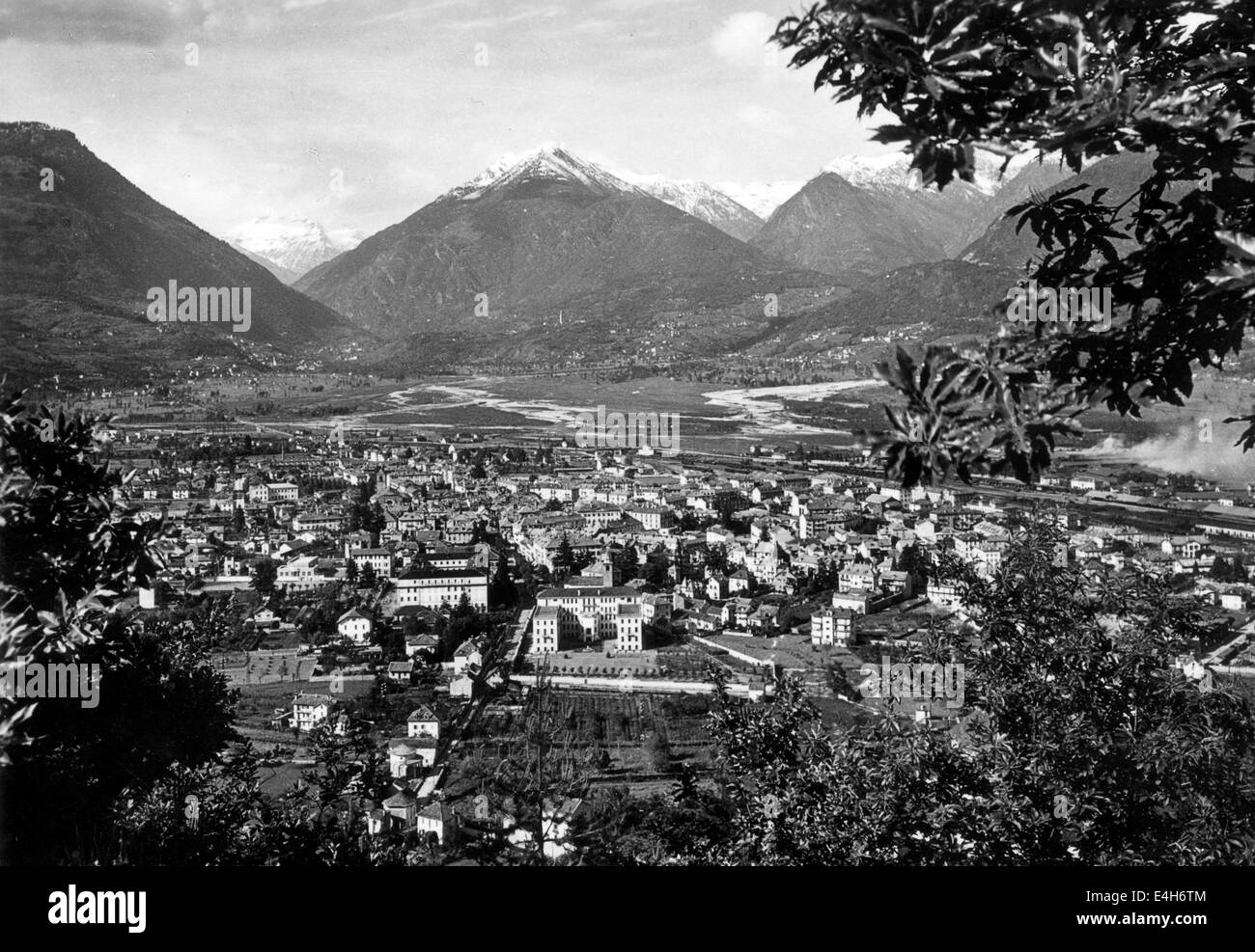 Domodossola in northern Italy 1940 1940s - Stock Image