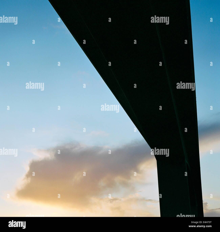 WOOLSTON,ENGLAND-REINFORCD CONCRETE SPANS OF THE ITCHEN BRIDGE. PHOTO:JONATHAN EASTLAND/AJAX - Stock Image