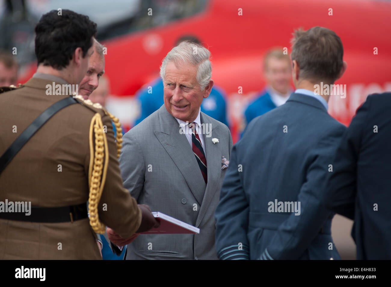 RAF Fairford, Gloucestershire UK  11th July 2014  HRH The
