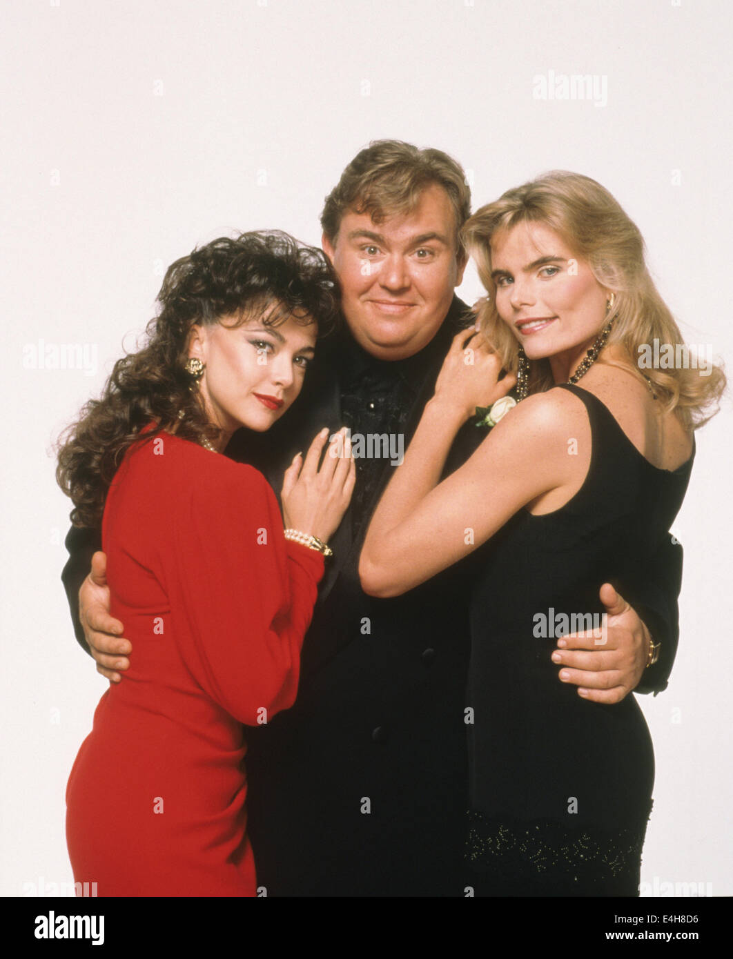 DELIRIOUS 1991 MGM film with from left: Emma Samms, John Candy and Mariel Hemingway Stock Photo