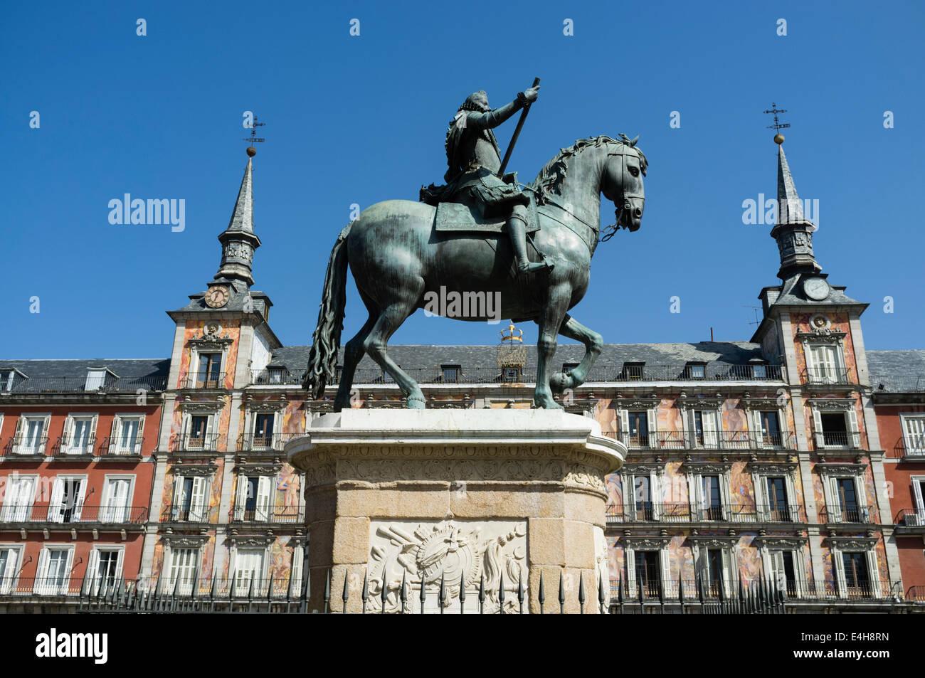 Plaza Mayor, Madrid, Spain - Stock Image