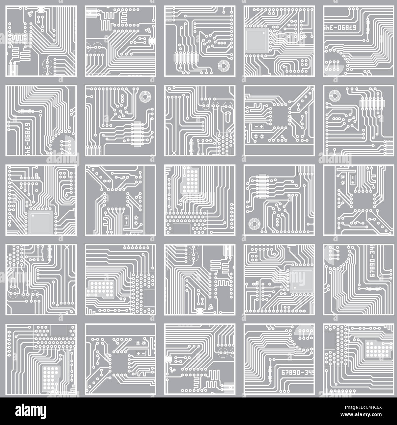 Seamless electronic pattern. Computer circuit board technology Stock ...
