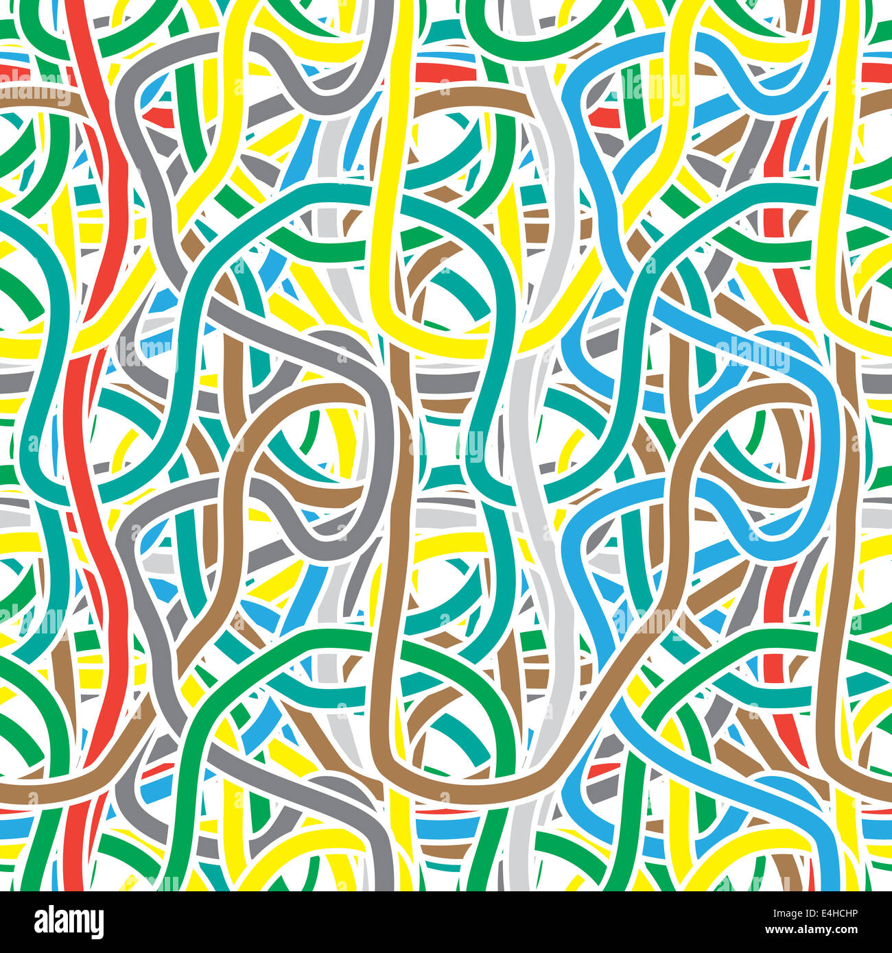 Seamless pattern - Absolutely continuous color stripes like a festive streamers - Stock Image