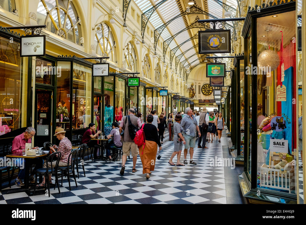 The Royal Arcade Melbourne CBD Australia - Stock Image