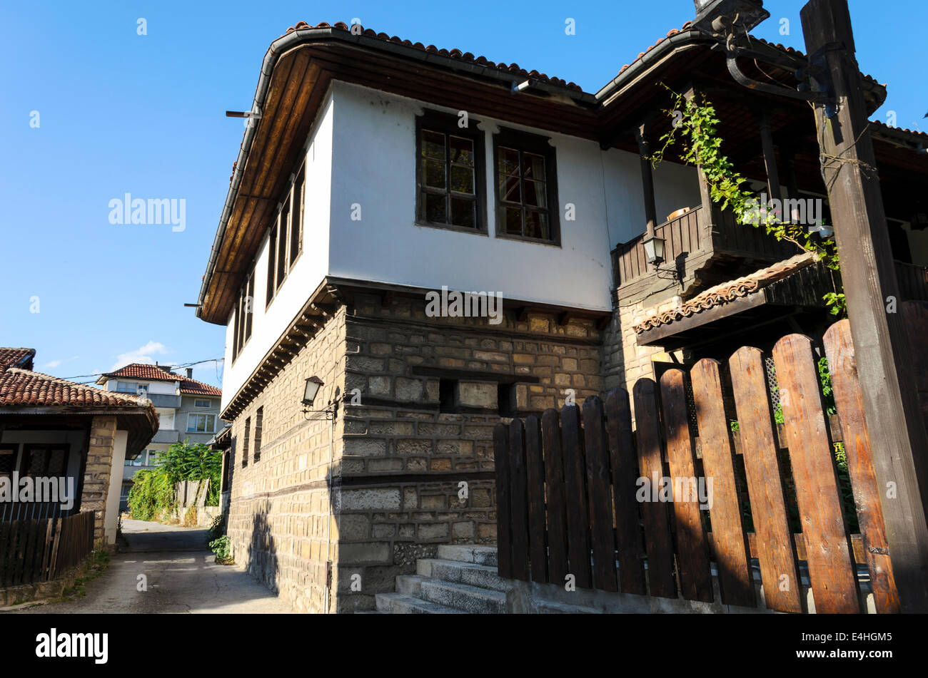 View of the Bulgarian Revival house Provadia located at the foot of Varna Stock Photo
