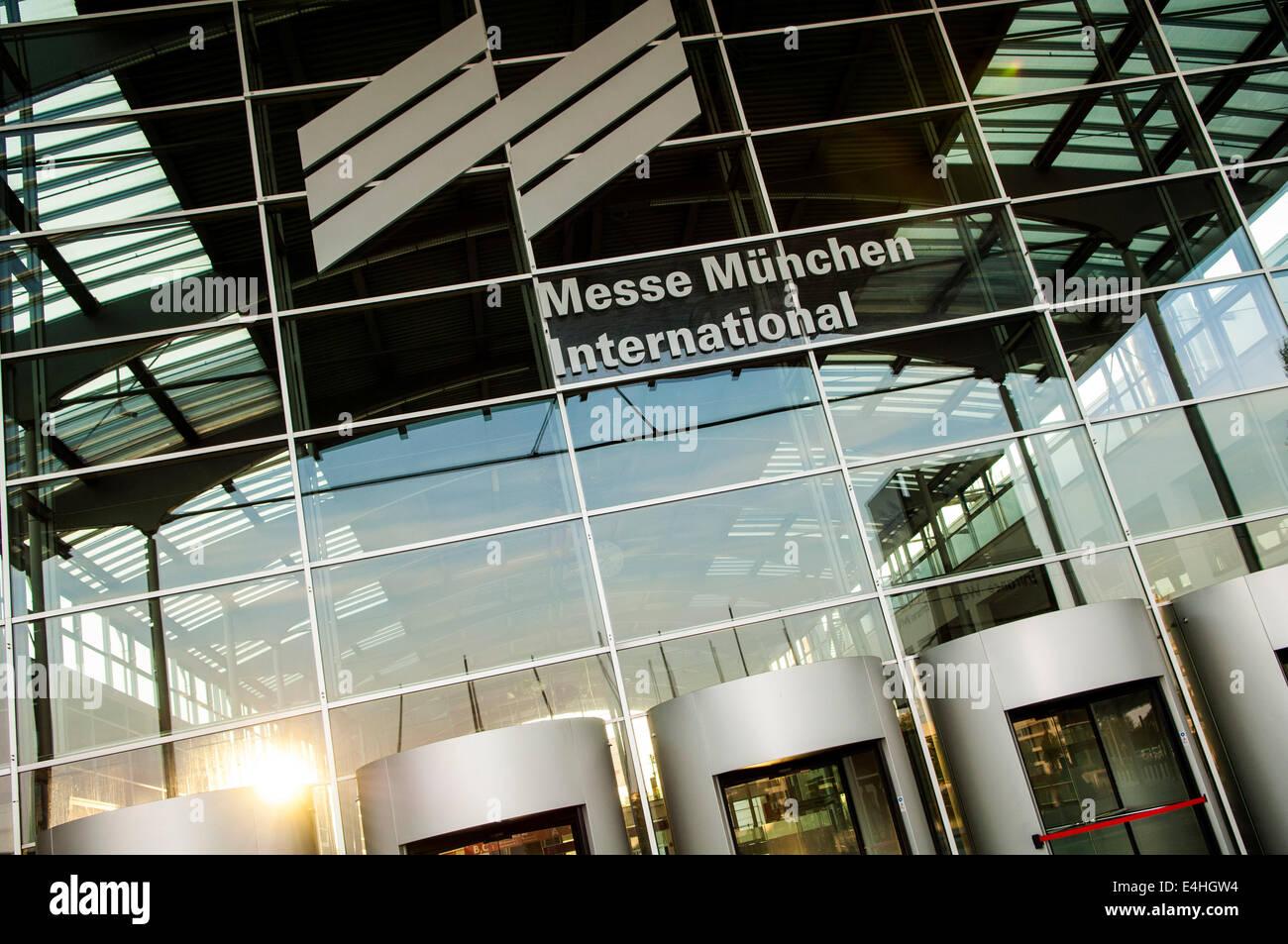 Entrance of Messe München International, Riem, Munich, Germany - Stock Image