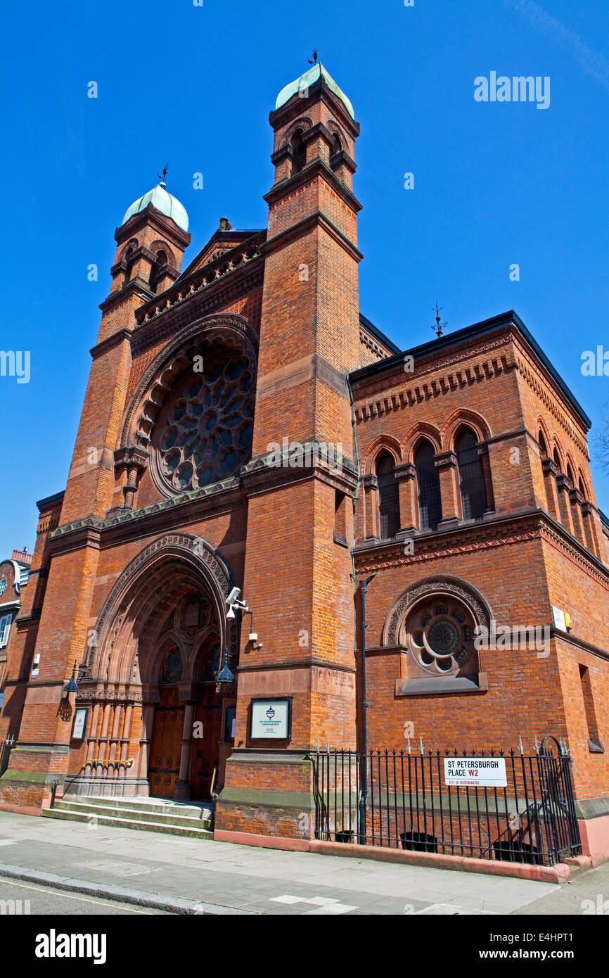 The New West End Synagogue located in St. Petersburg Place, London. - Stock Image