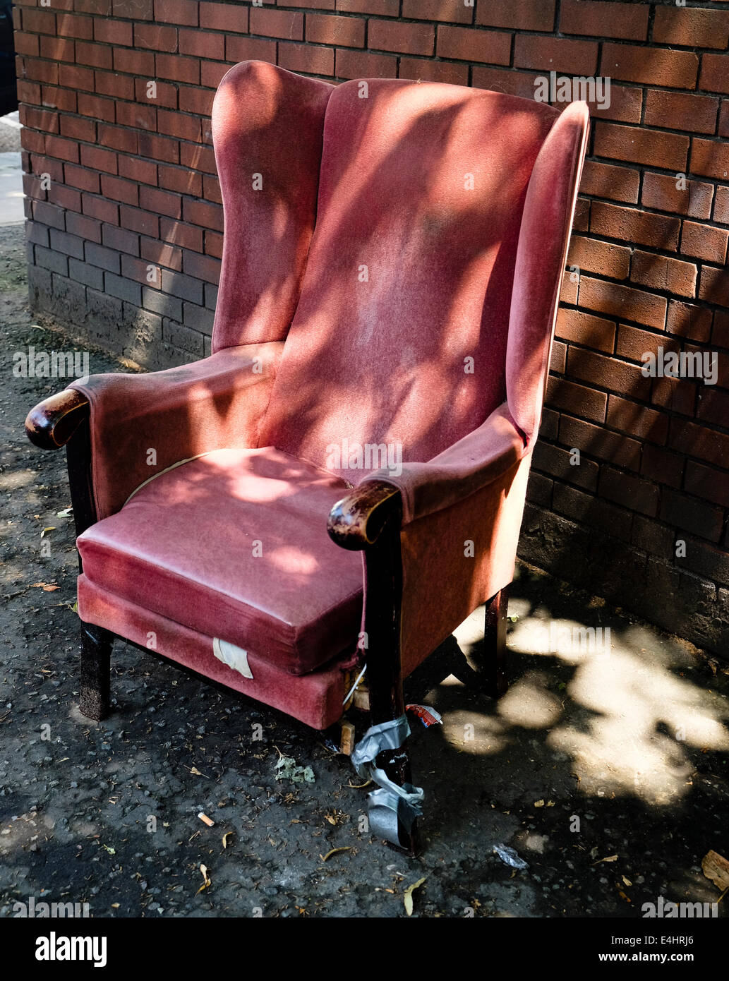 Abandoned Chair - Stock Image