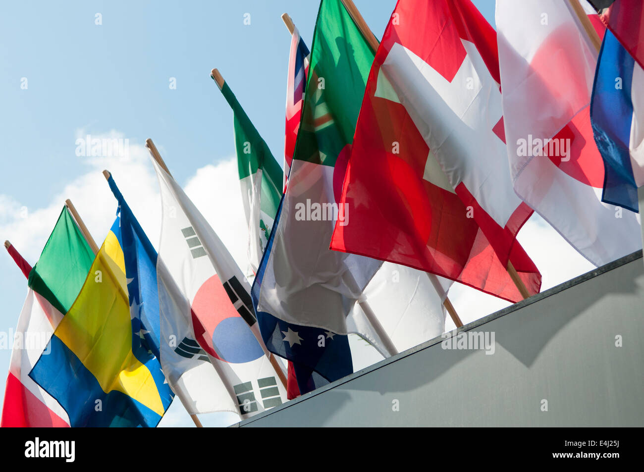 Flags of many nations. - Stock Image