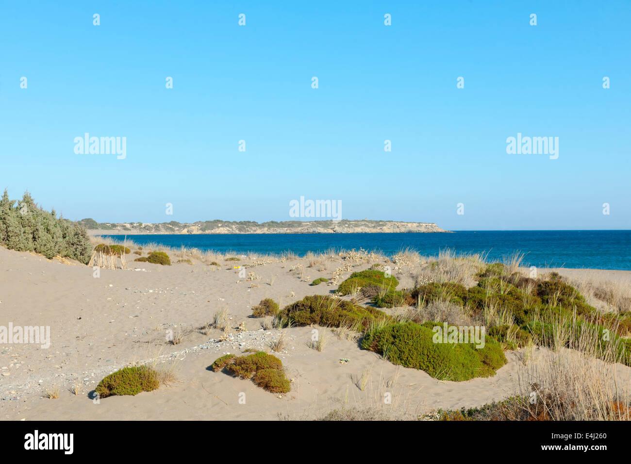 Griechenland, Rhodos, Kattavia, Agios Georgos Strand - Stock Image
