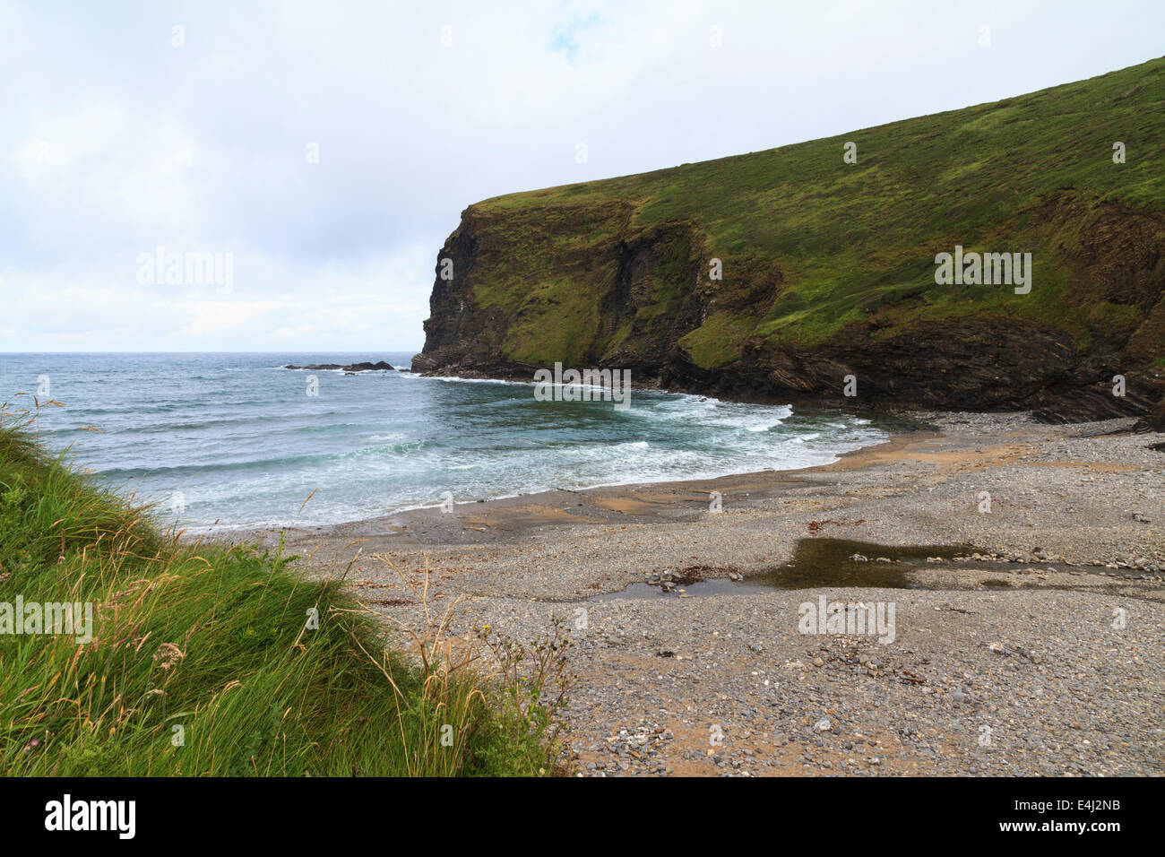 The beach at Crackington Haven, Cornwall, UK in June - Stock Image