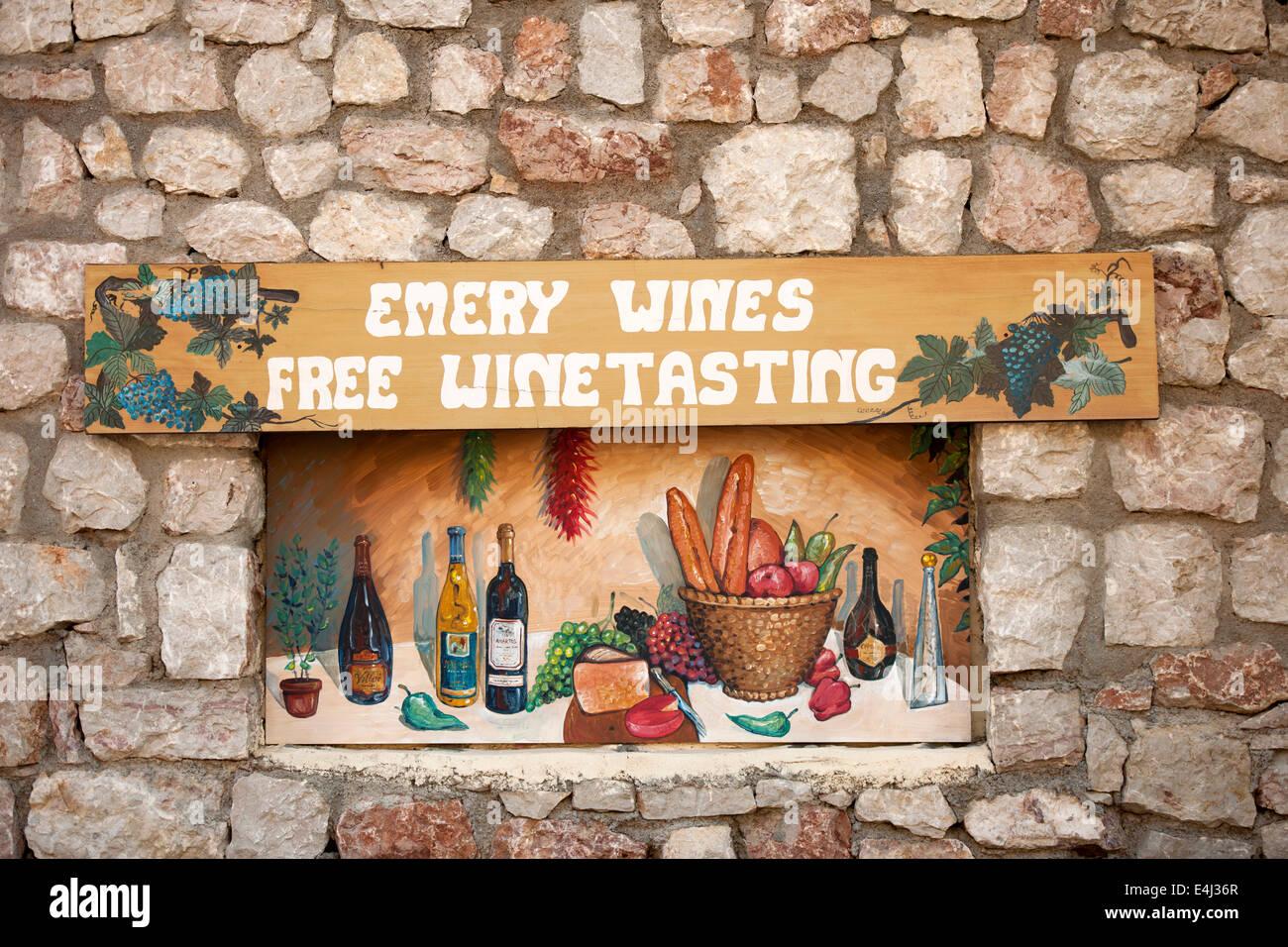Griechenland, Rhodos, Embona, Weingut Emery - Stock Image
