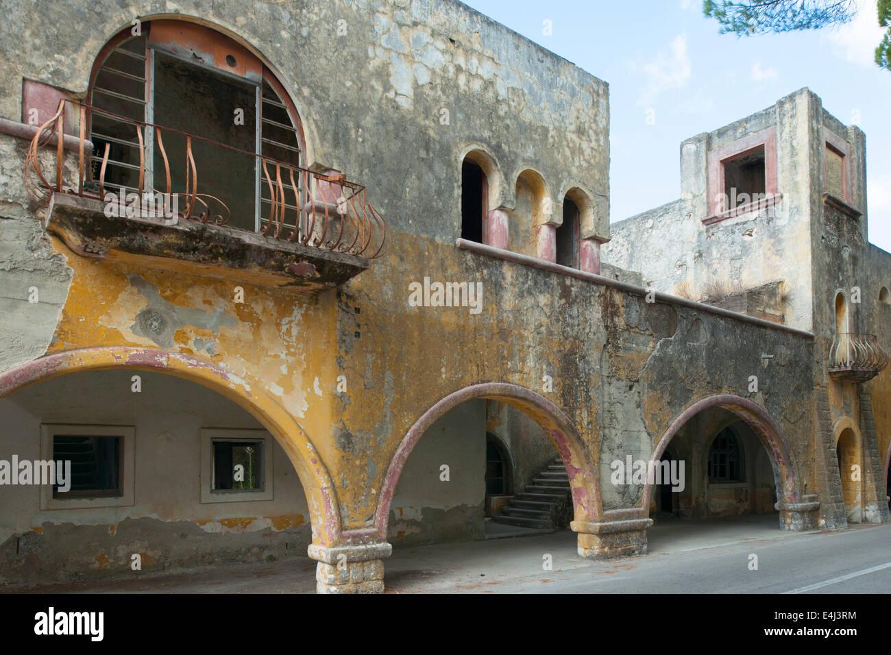 Griechenland, Rhodos, Eleoussa, Italienische Kolonialhäuser   Stock Image