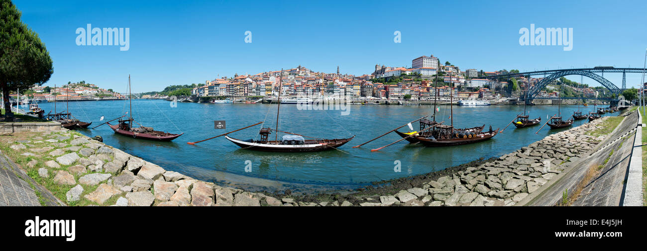 Oporto - June 1: Ribeira is an ancient and typical place in Oporto, located along the Douro river and registered - Stock Image