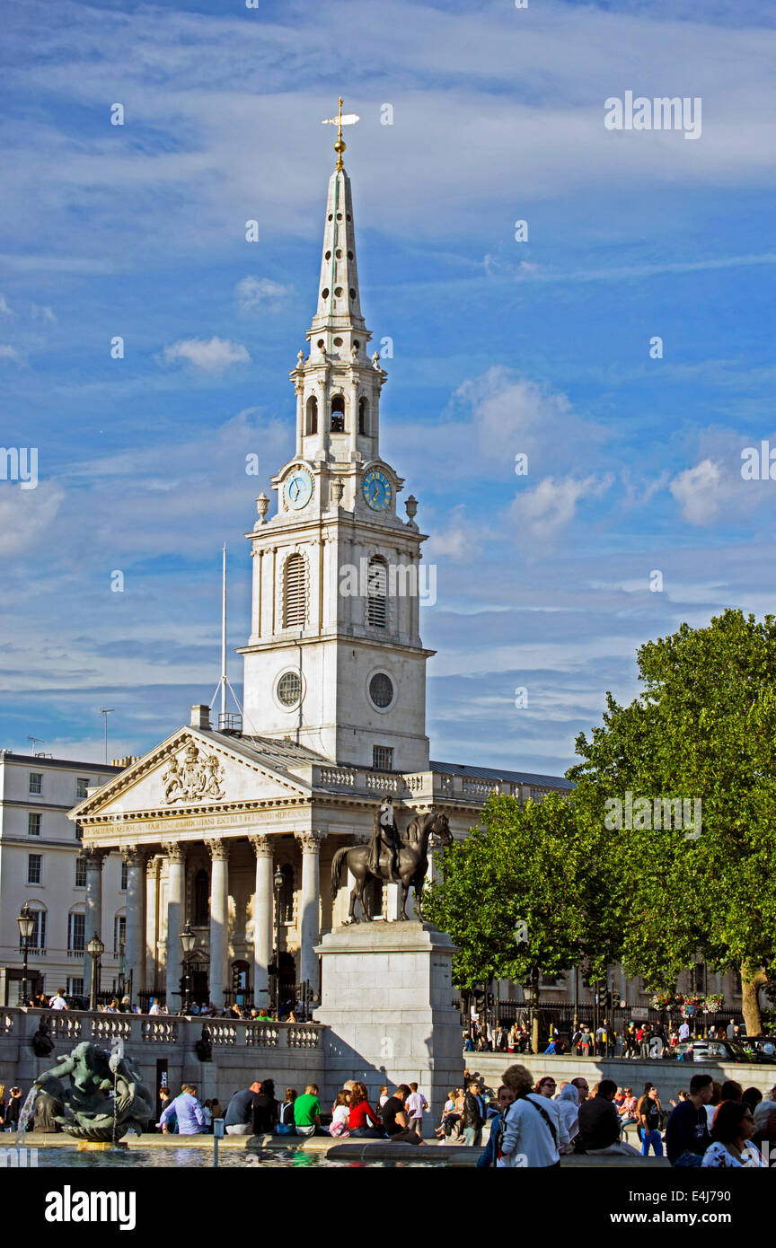 St. Martin-in-the-fields, Trafalgar Square, City of Westminster, London, England, United Kingdom - Stock Image