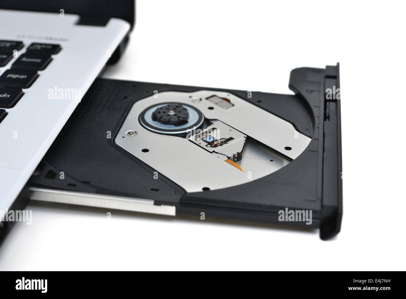 DVD Drive in Laptop - Stock Image