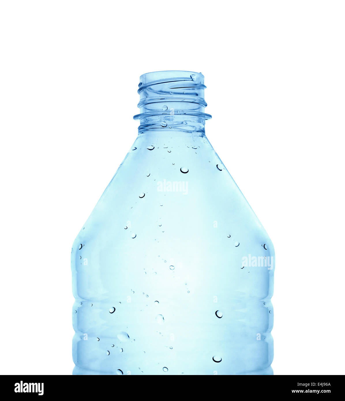 Water bottle against white background - Stock Image