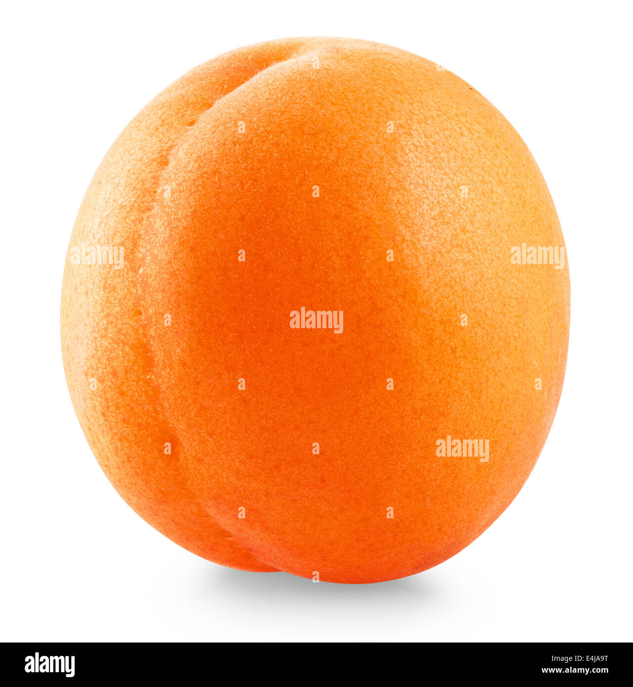 Apricot fruit isolated on white background. Clipping Path - Stock Image