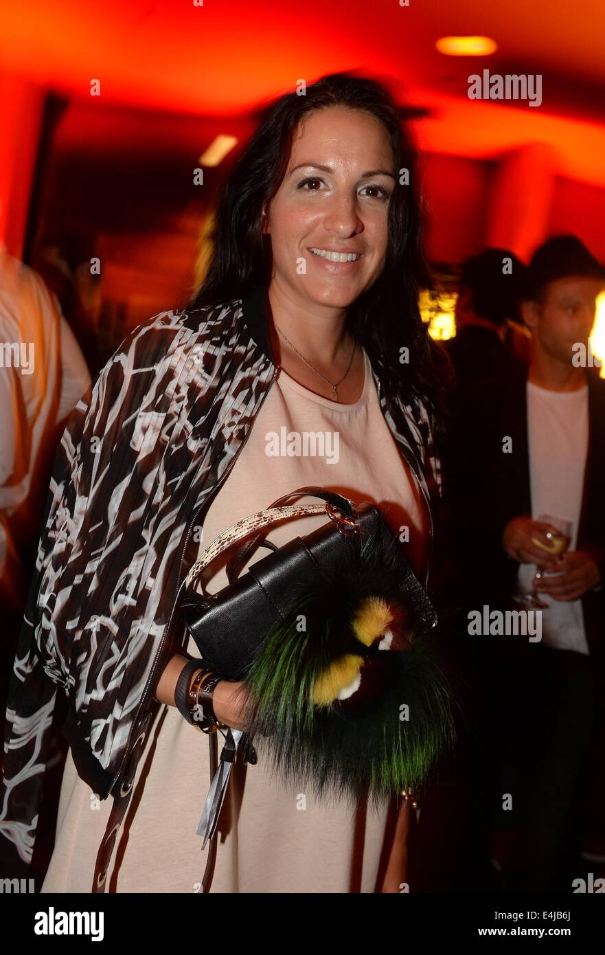 Berlin, Germany. 11th July, 2014. Movie producer Minu Barati-Fischer at the Michalsky Stylenite party during the - Stock Image