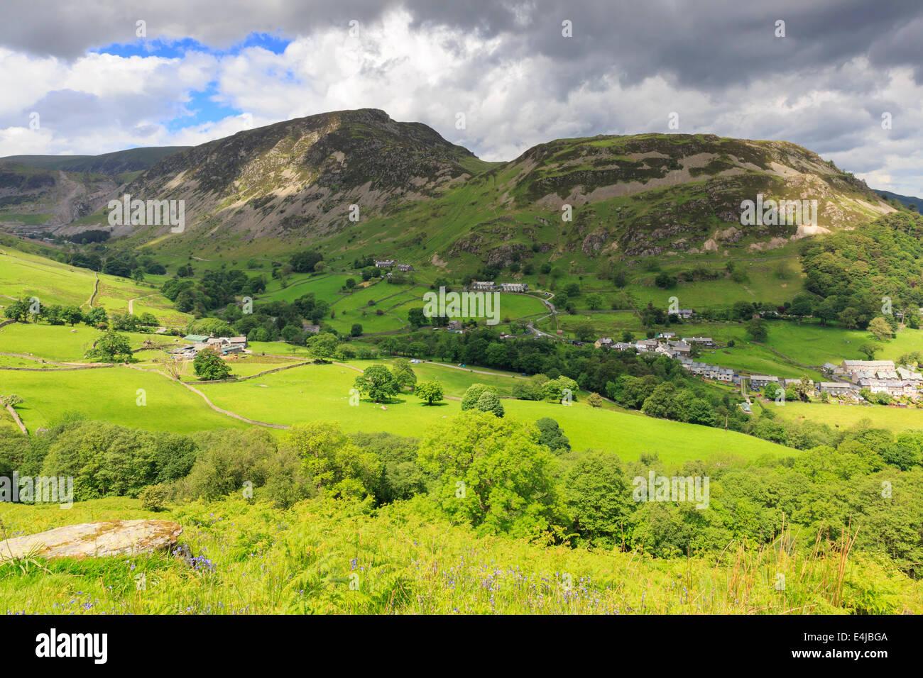 Sheffield Pike and Glenridding Dodd above Glenridding, Lake District, Cumbria - Stock Image