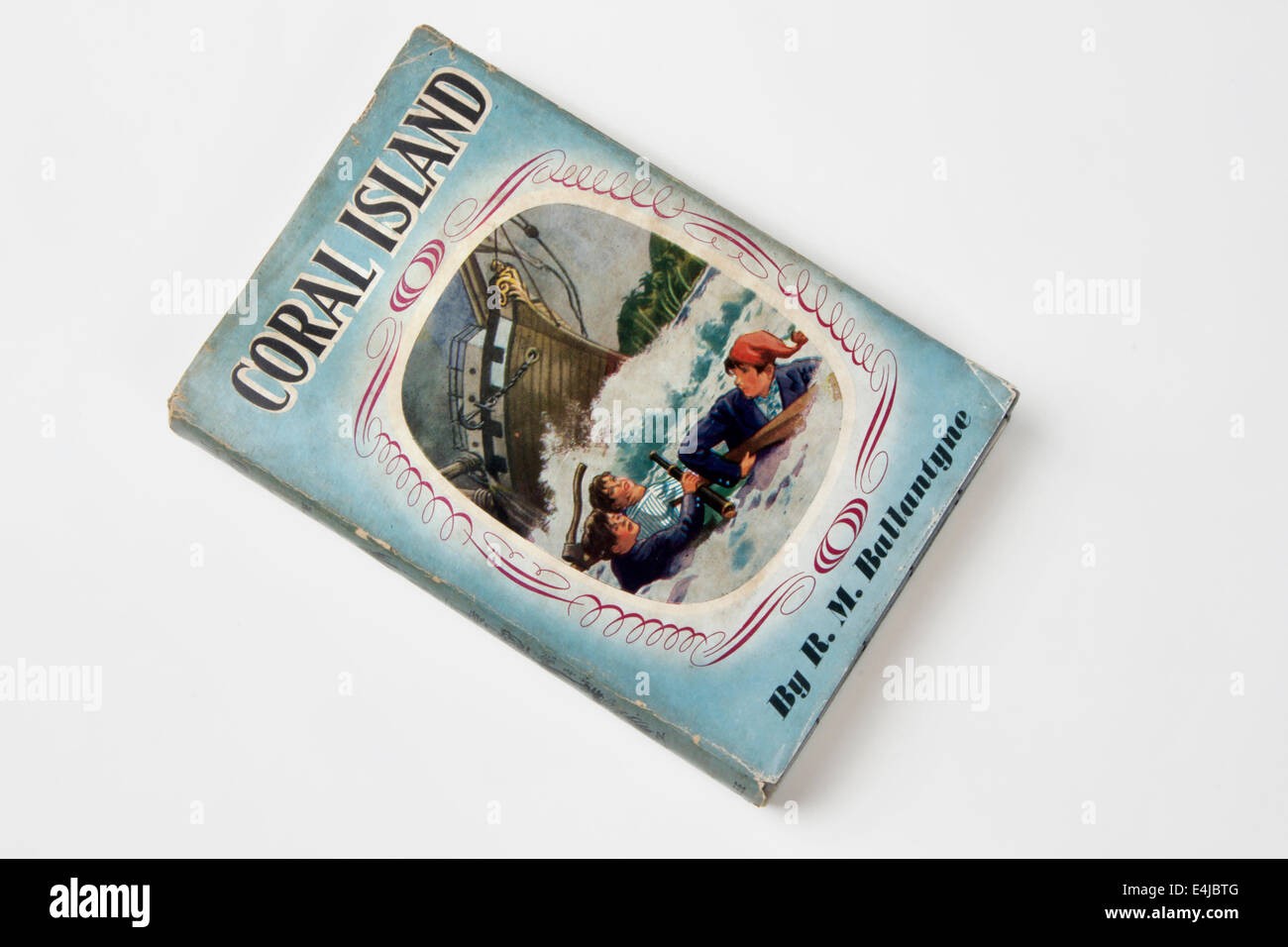 1950s copy of the book Coral Island, by R M Ballantyne - Stock Image