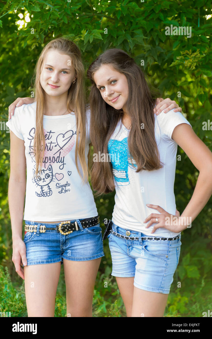 Teen Girls In The Park