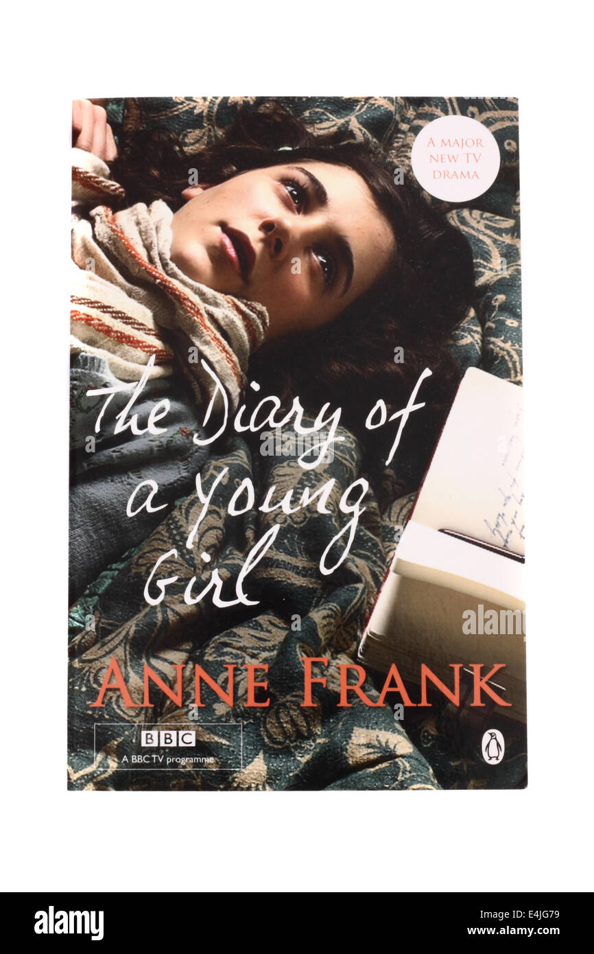 A book - The Diary of a young girl by Anne Frank - published by The BBC - Stock Image