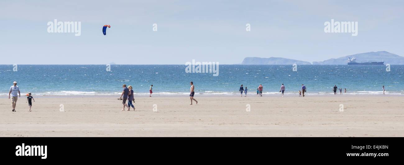 Broad Haven beach, Pembrokeshire, Wales, UK - Stock Image