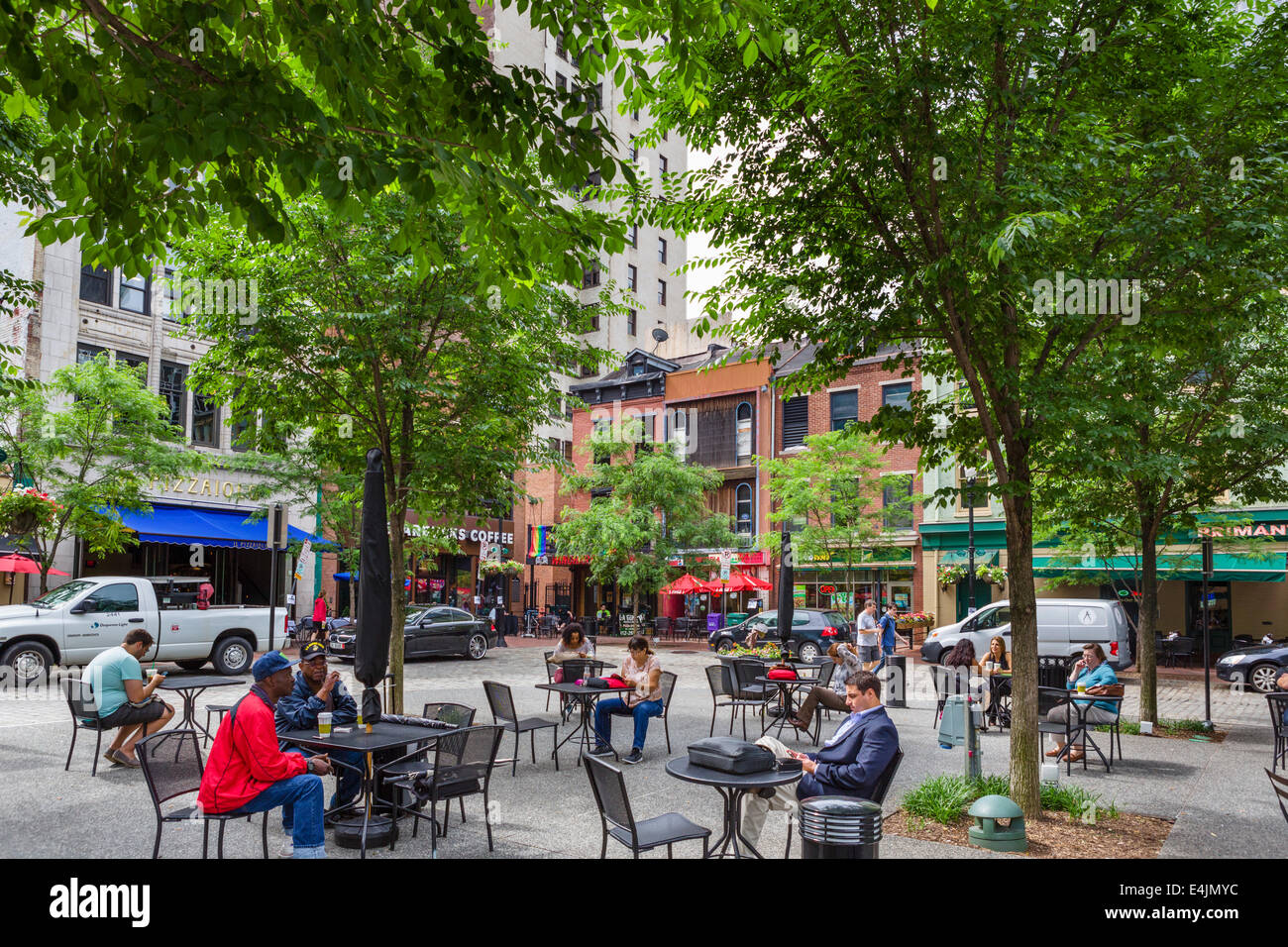 Market Square in downtown Pittsburgh, Pennsylvania, USA - Stock Image