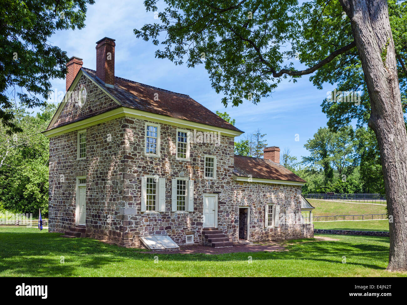 George Washington's Headquarters and home in winter of 1777/78,  Valley Forge National Historical Park, Pennsylvania, - Stock Image