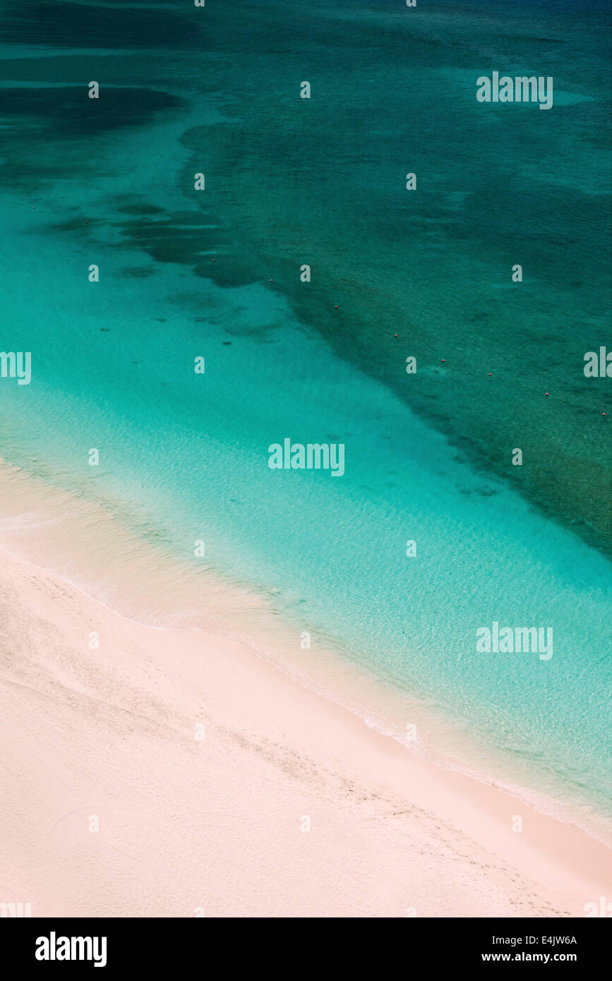 Beach in Paradise Island, Bahamas - Stock Image