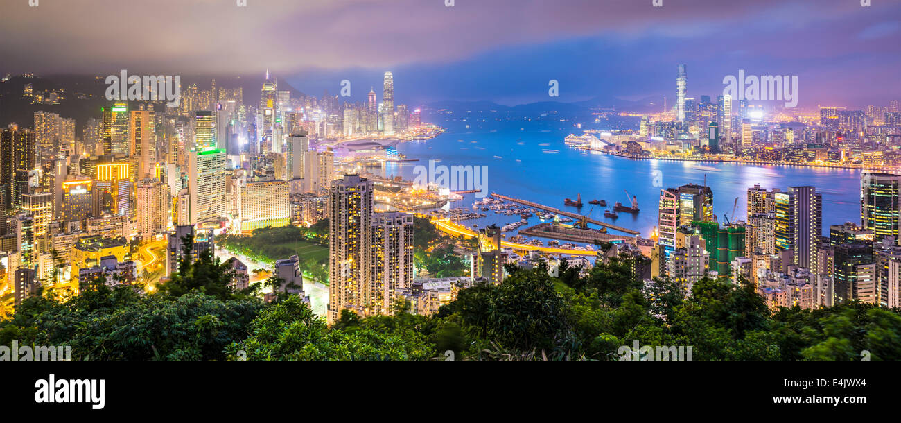Hong Kong, China City Skyline - Stock Image