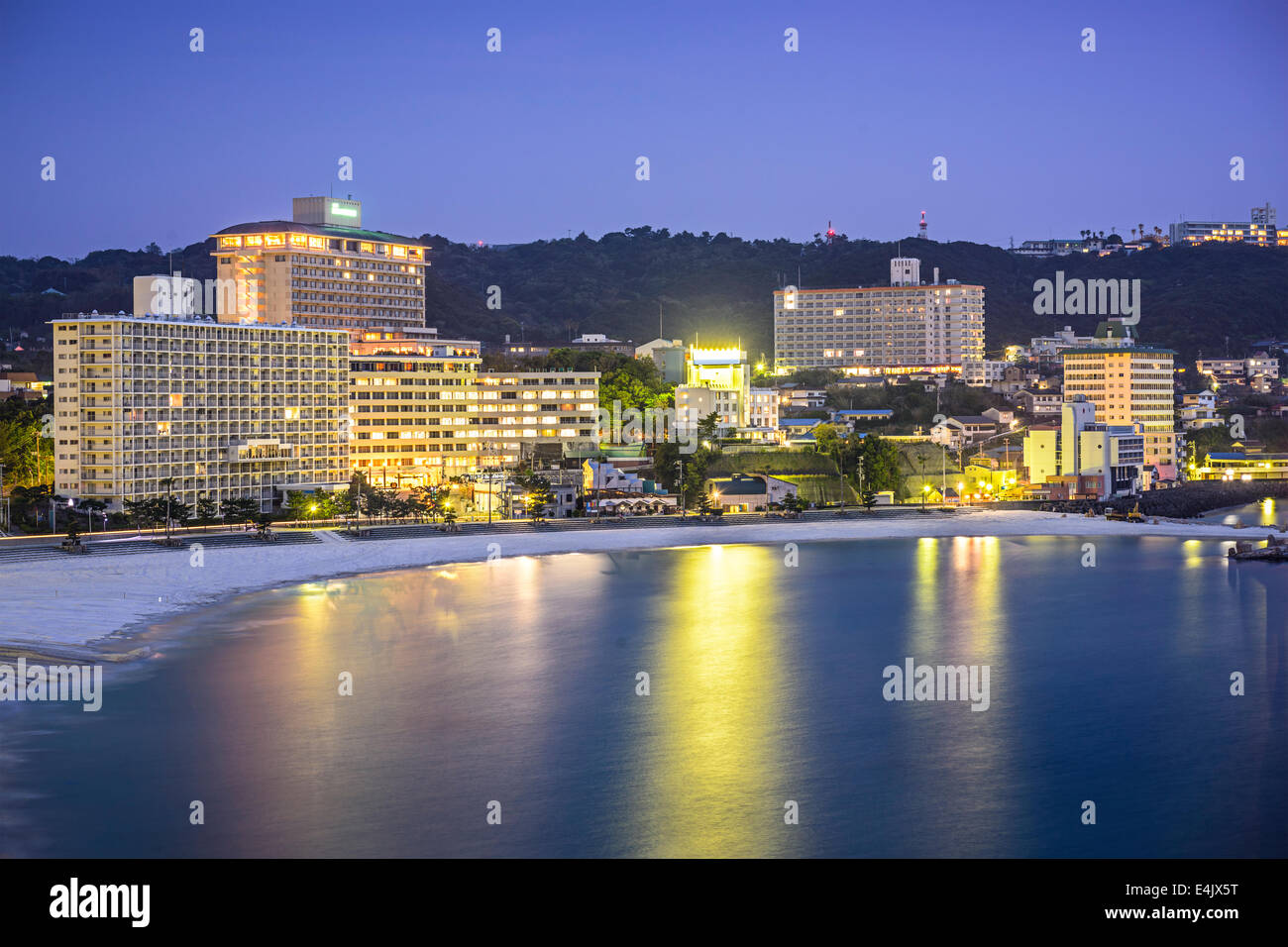 Shirahama, Japan skyline at the beachfront resorts. - Stock Image