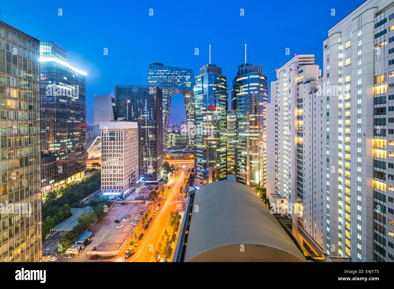 Beijing, China cityscape in the central business district. - Stock Image