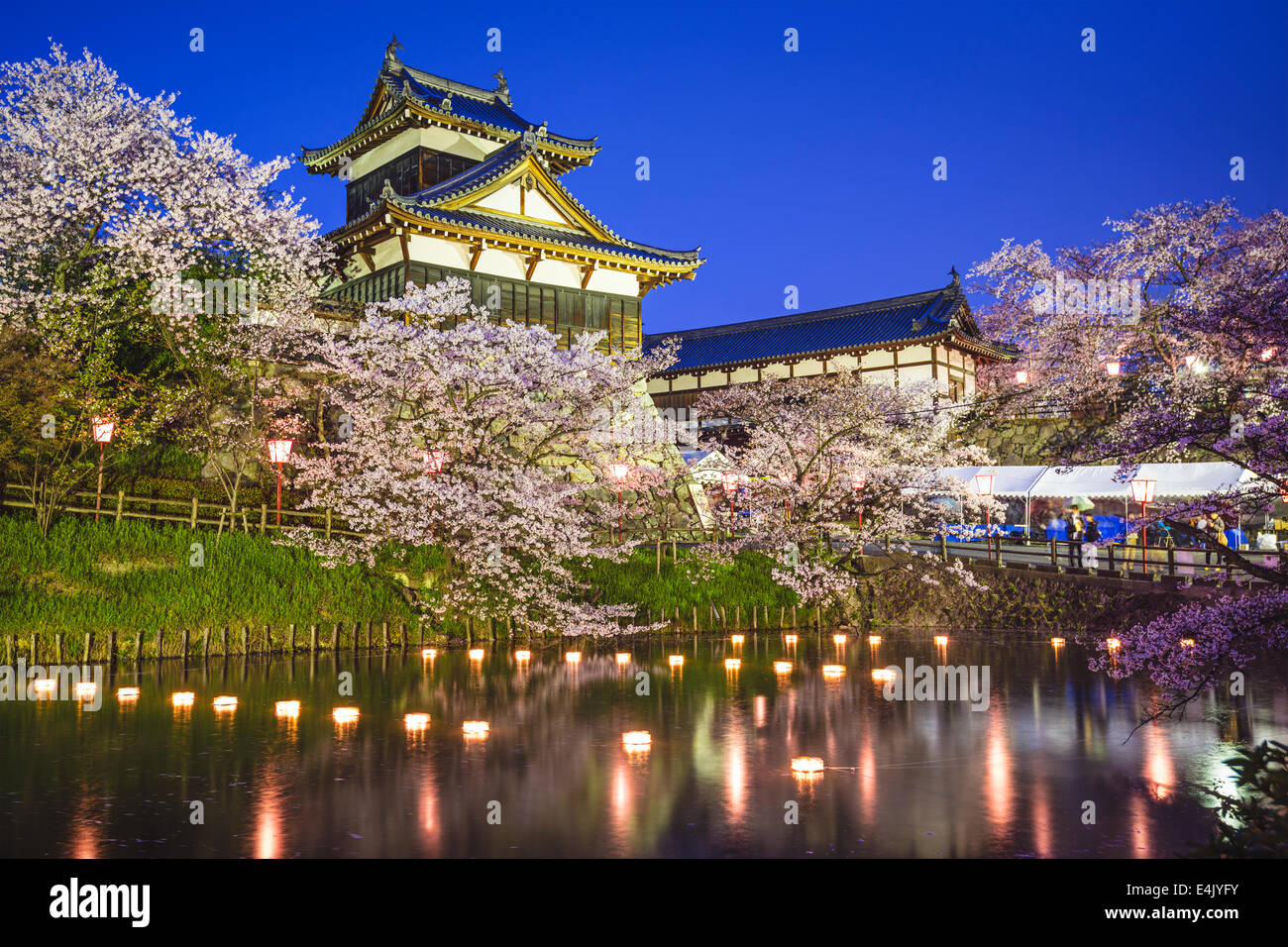Koriyama Castle in Nara, Japan. - Stock Image