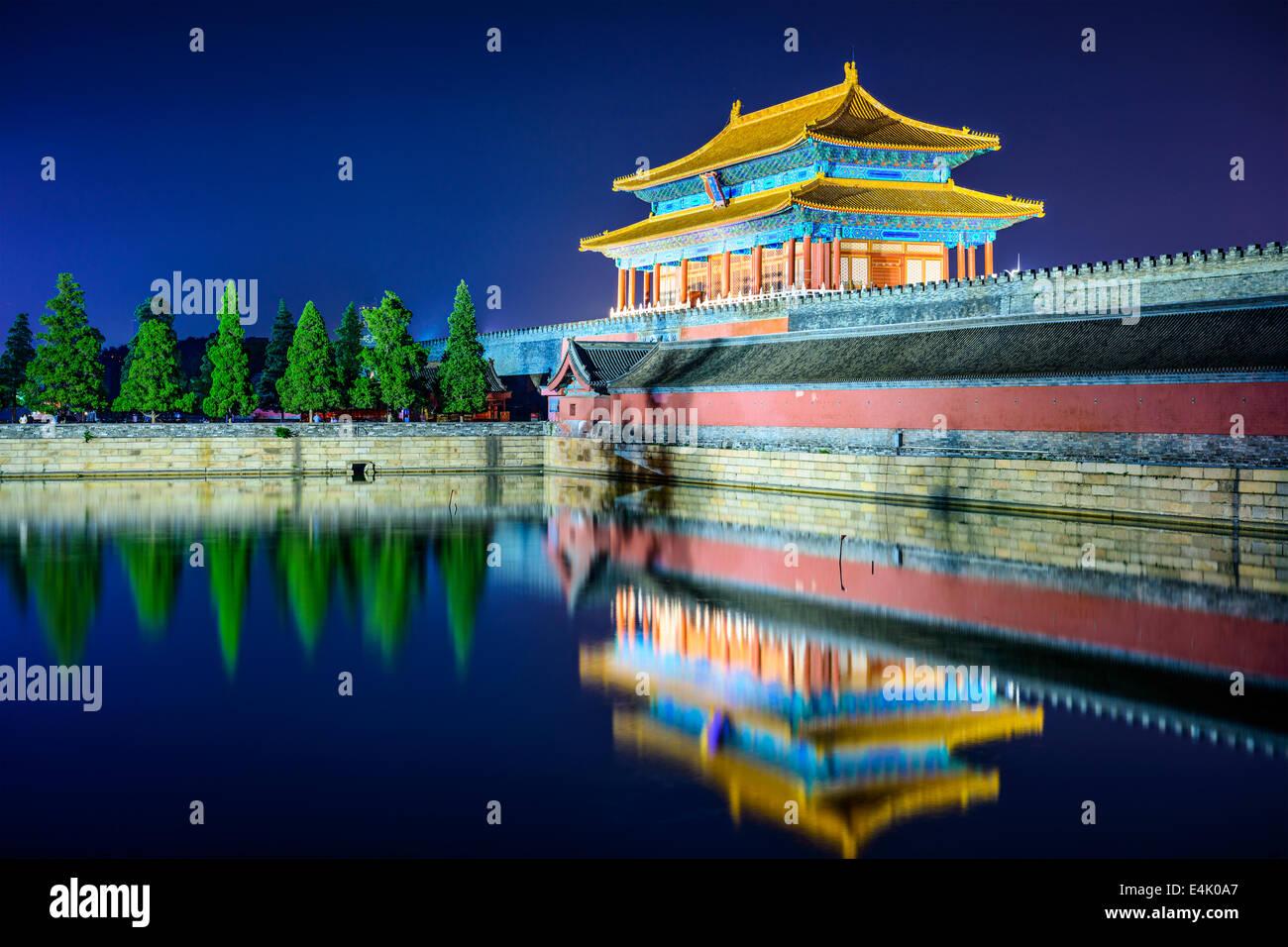 Beijing, China Forbidden City Gate. - Stock Image