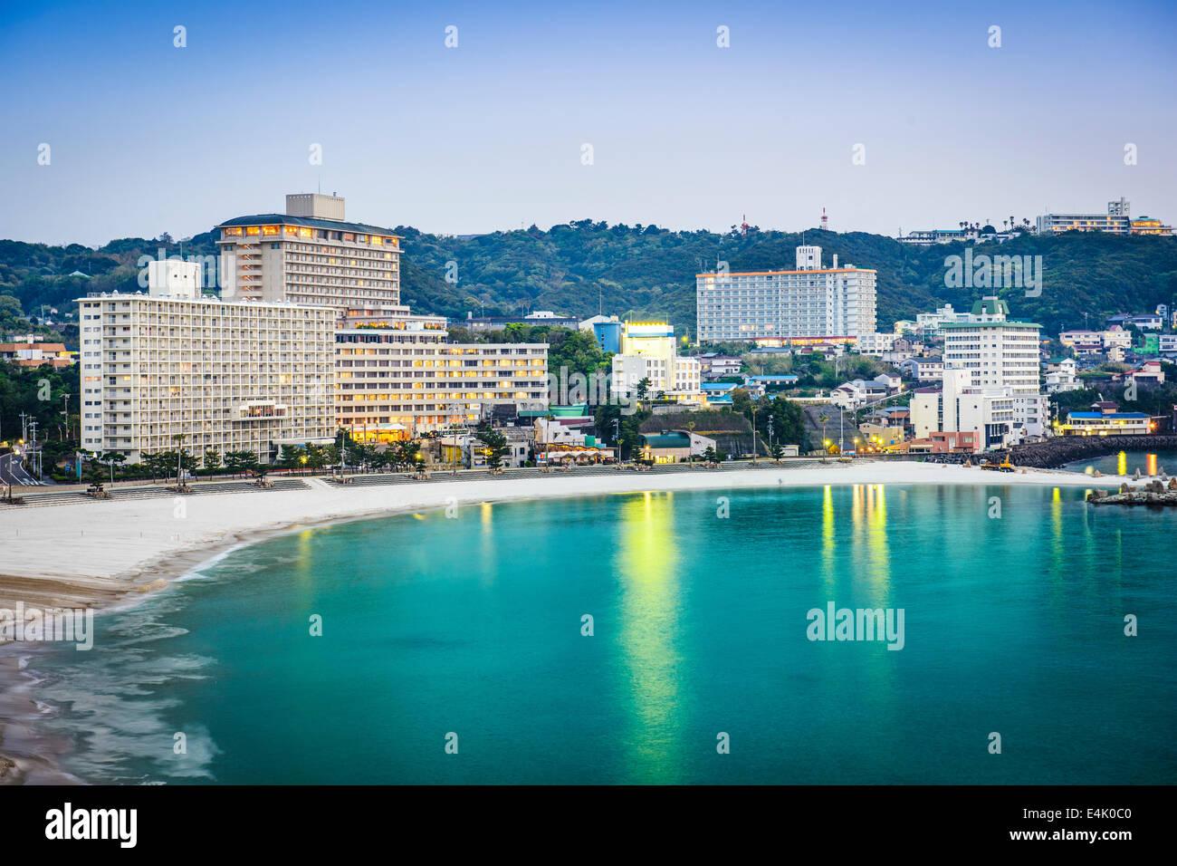 Shirahama, Japan skyline at the beachfront resorts. - Stock Image
