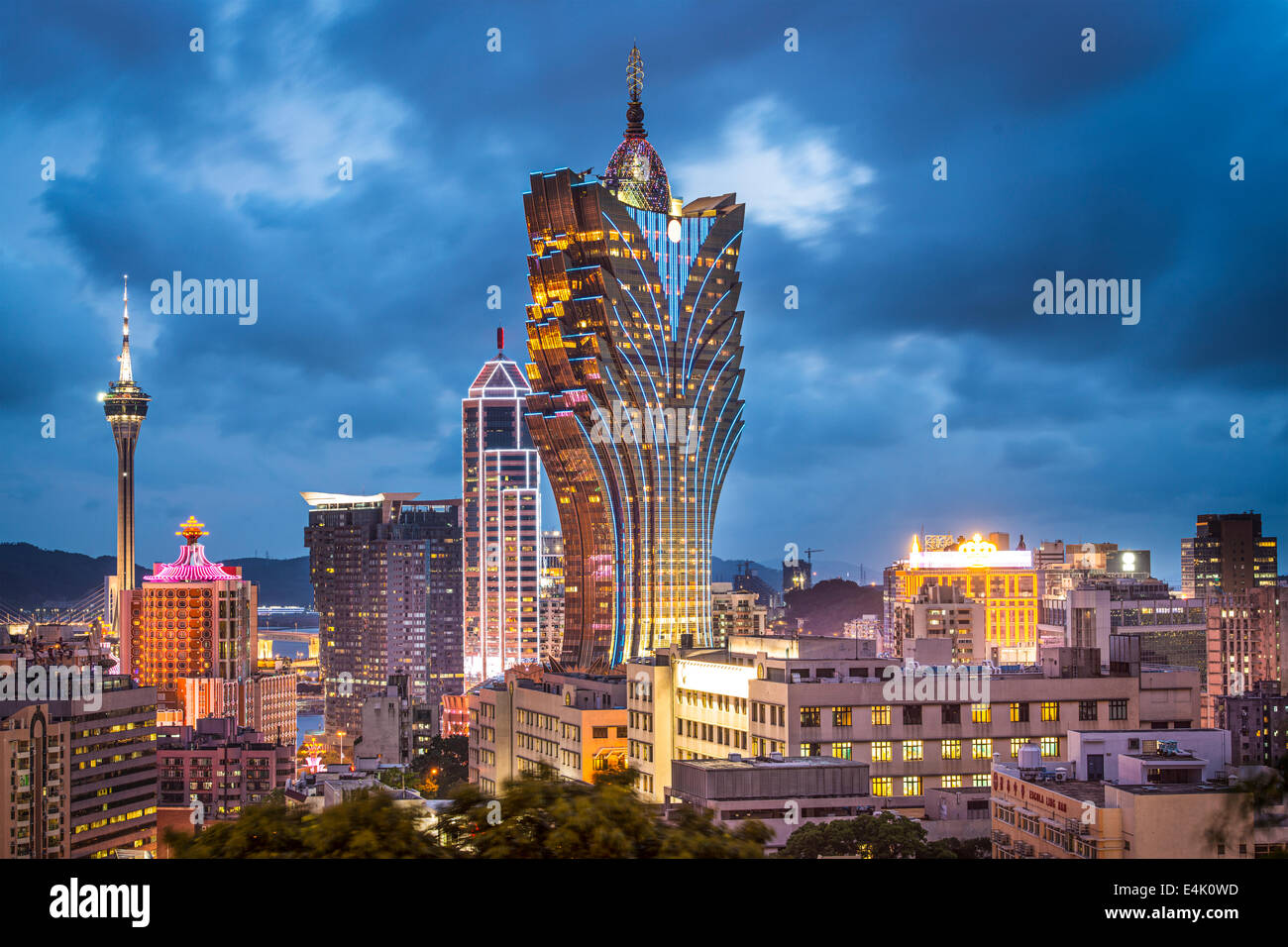 Macau, China city skyline Stock Photo: 71717897