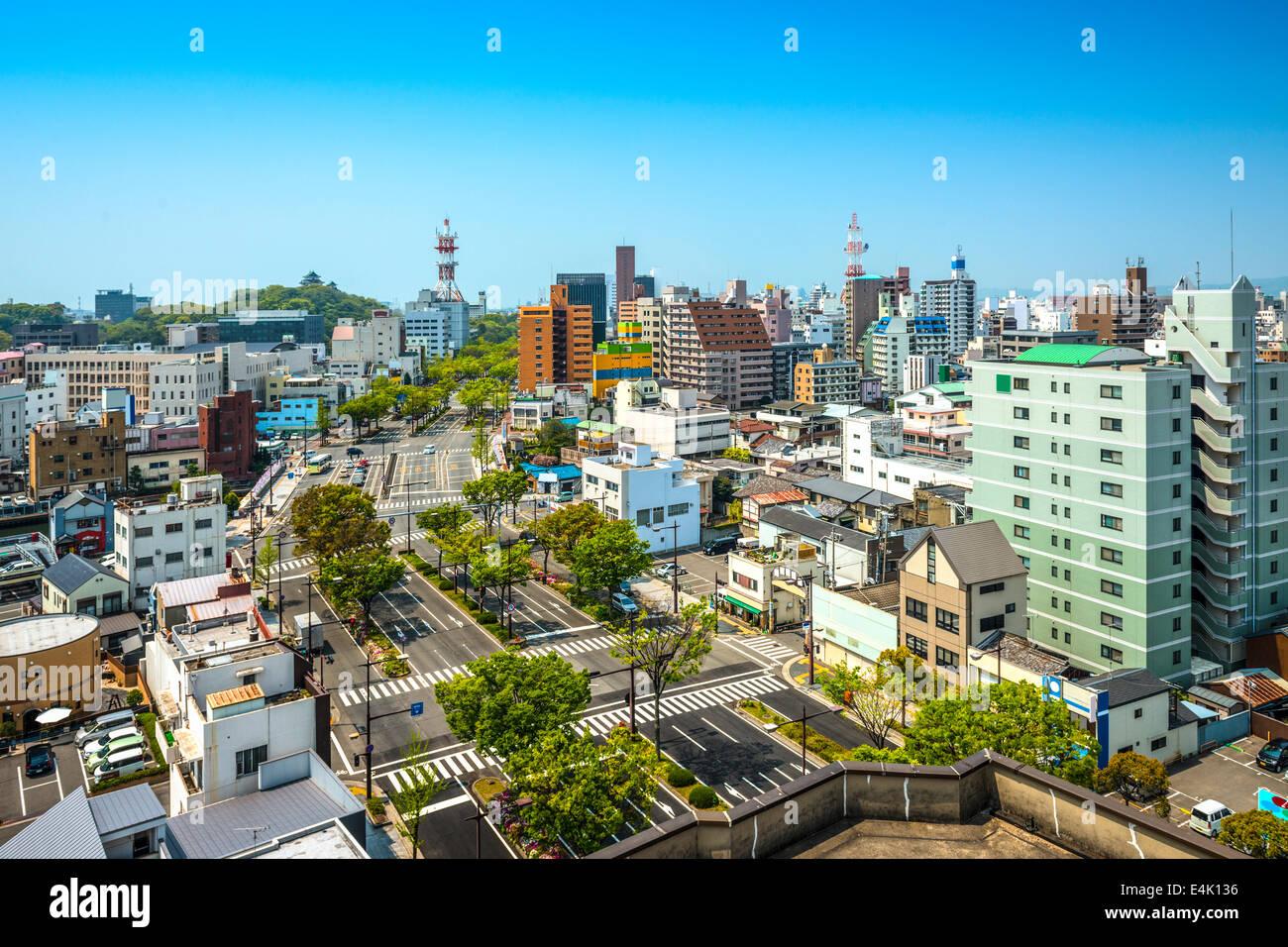 Wakayama City, Wakayama, Japan cityscape. - Stock Image