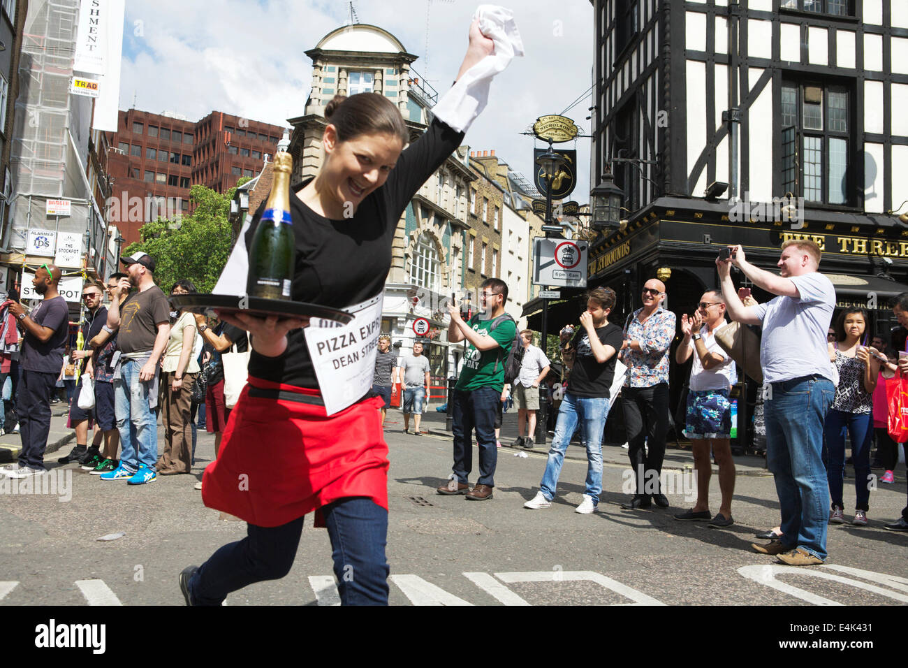 Waiters Race: Soho, London, UK - Stock Image