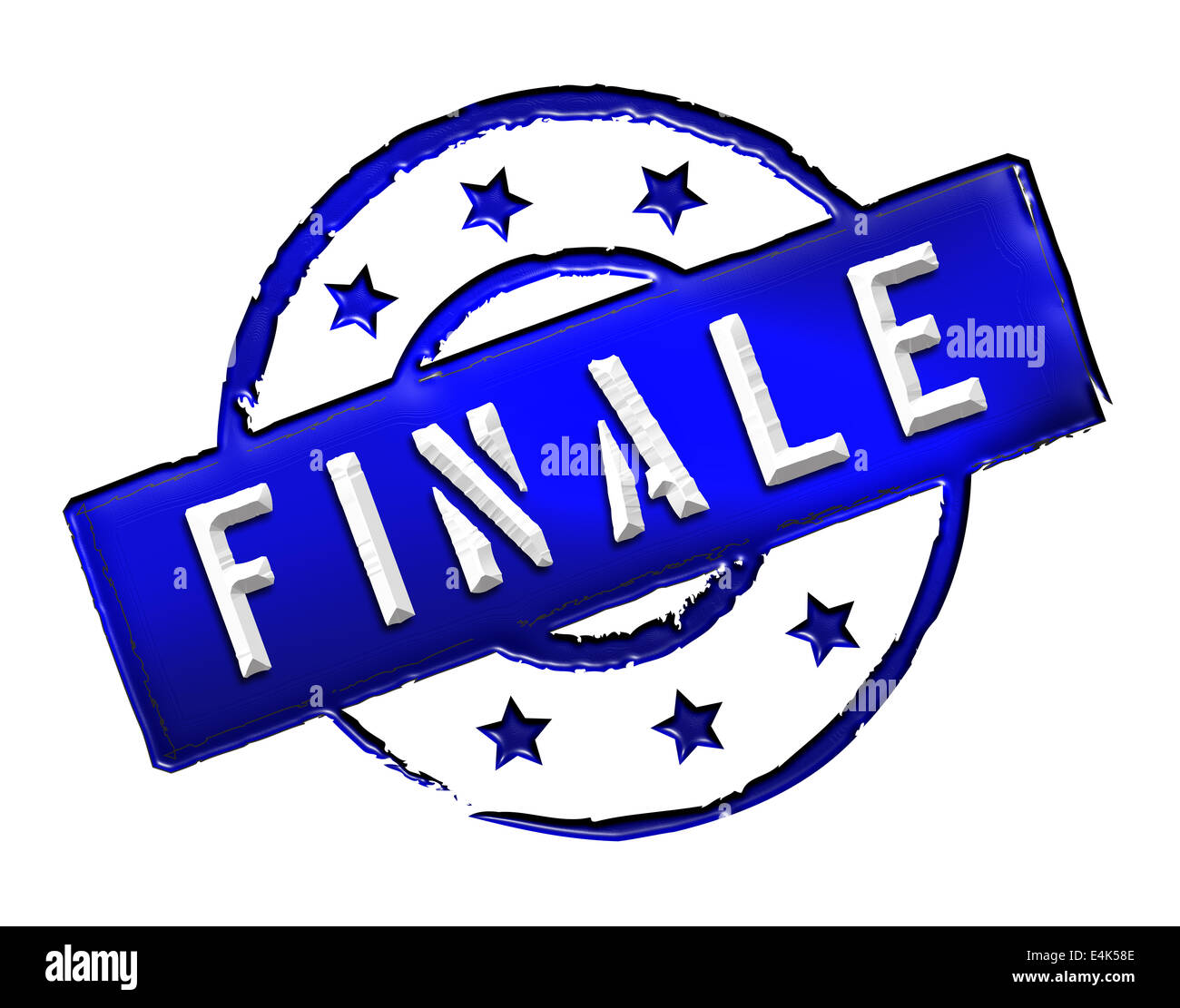 Stamp - FINALE - Stock Image