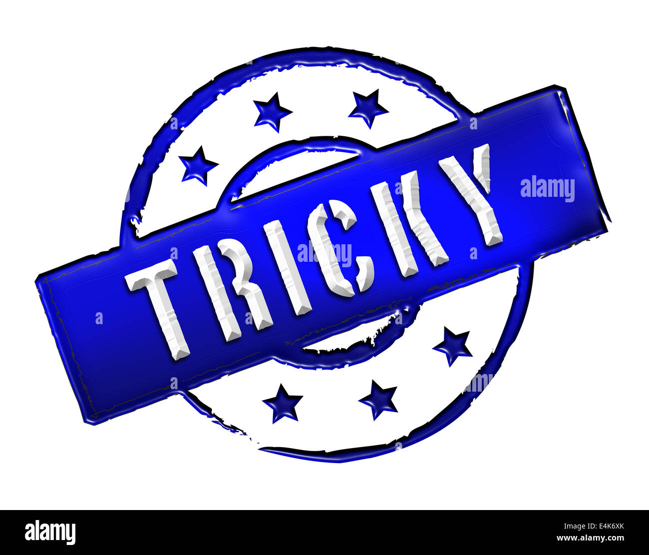 Stamp - TRICKY Stock Photo