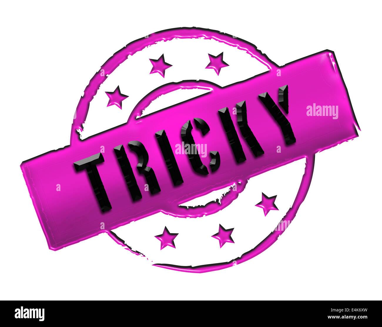 Stamp - TRICKY - Stock Image
