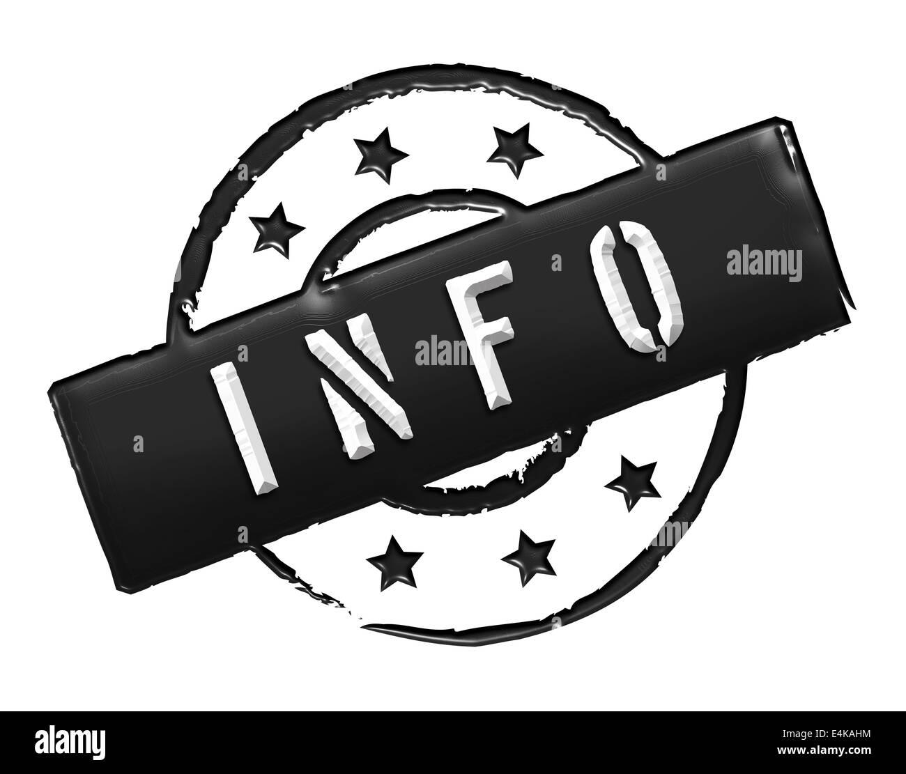 Stamp - INFO Stock Photo