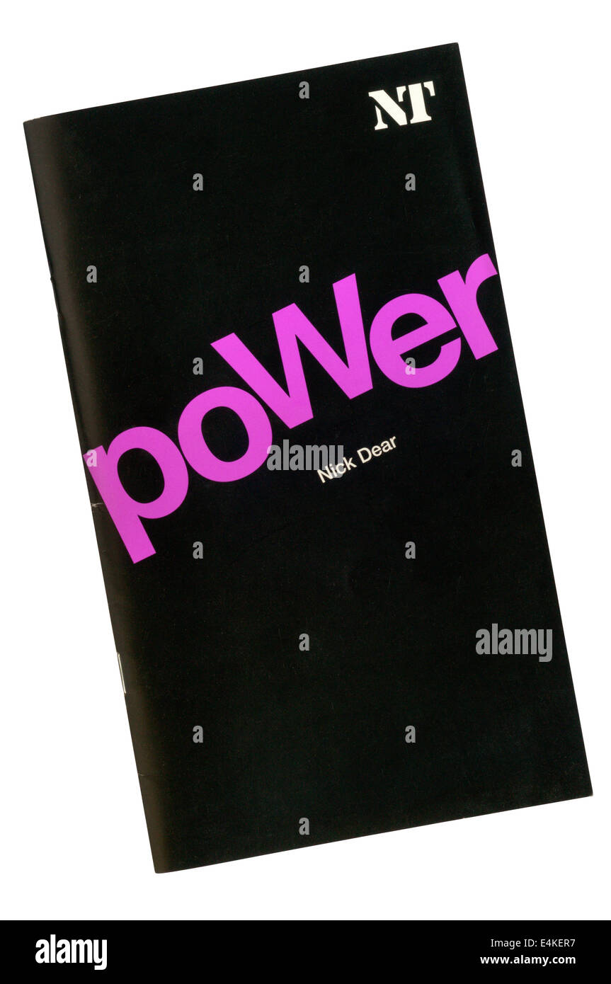 Programme for the 2003 World Premiere of Power by Nick Dear at the Cottesloe Theatre. - Stock Image