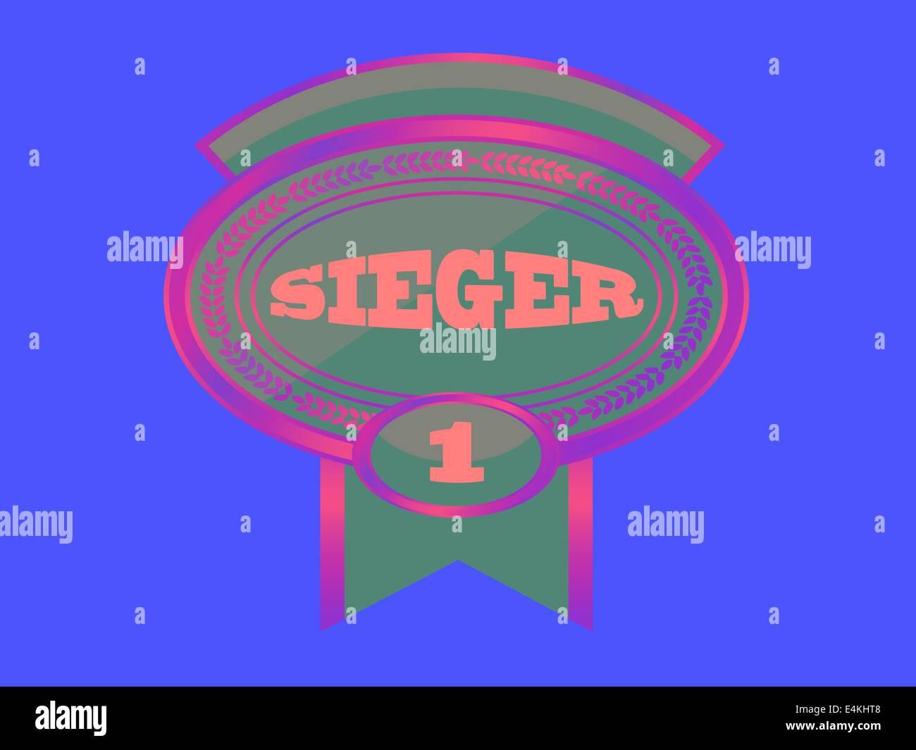 MEDAL - SIEGER - Stock Image