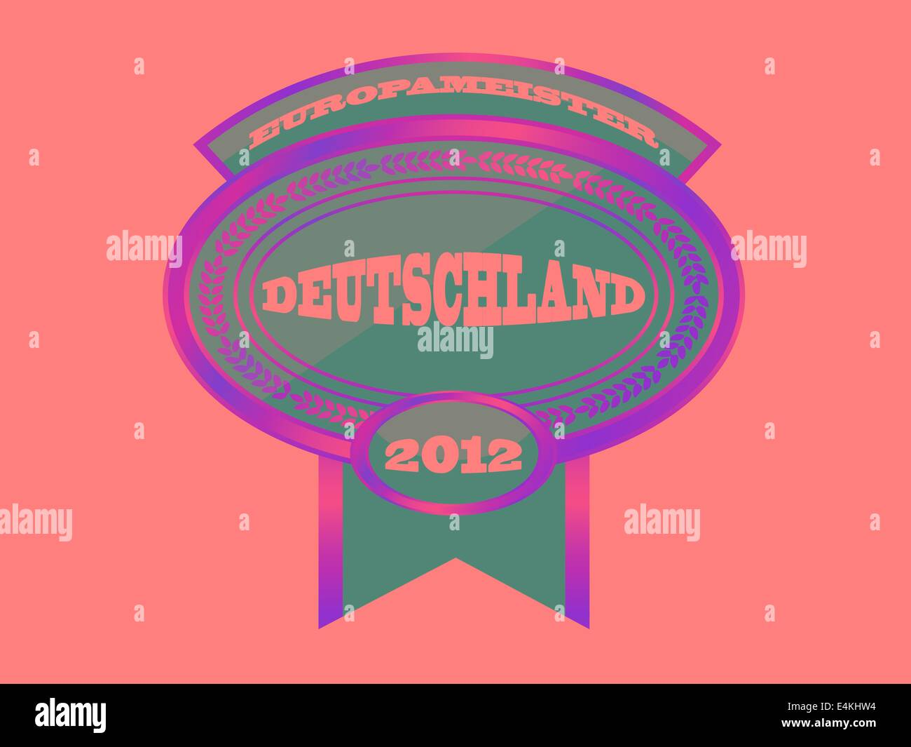 MEDAL - DEUTSCHLAND 2012 - Stock Image