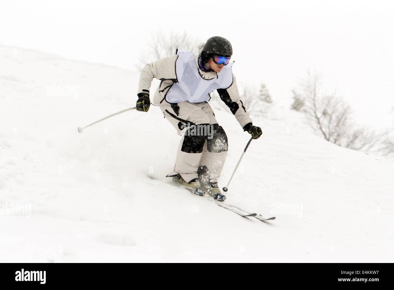 Man skiing - Stock Image